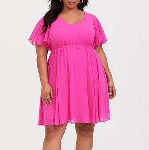 Torrid Hot Pink Skater Dress sz 3
